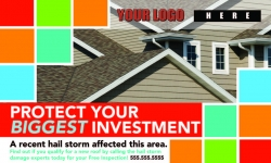 Roofing Postcard Design